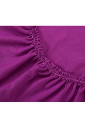 Простыня на резинке Фиолетовая, трикотаж