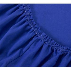 Простыня на резинке Синяя, трикотаж