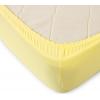 Простыня на резинке Желтая, трикотаж