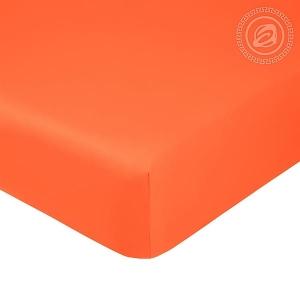 Простыня на резинке Оранжевая, сатин