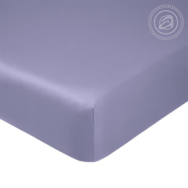 Простыня на резинке Фиолетовая, сатин