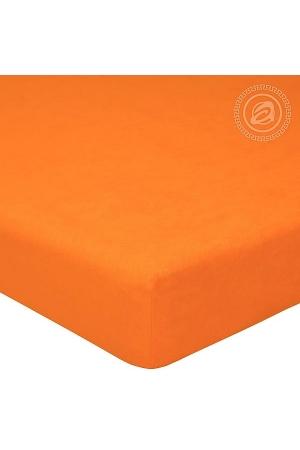 Простыня на резинке Апельсин, махра