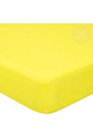 Простыня на резинке Лимон, махра