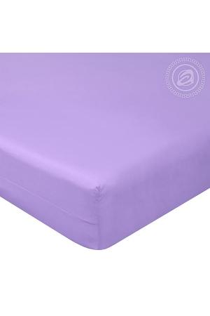 Простыня на резинке Византия (Фиолетовый), поплин