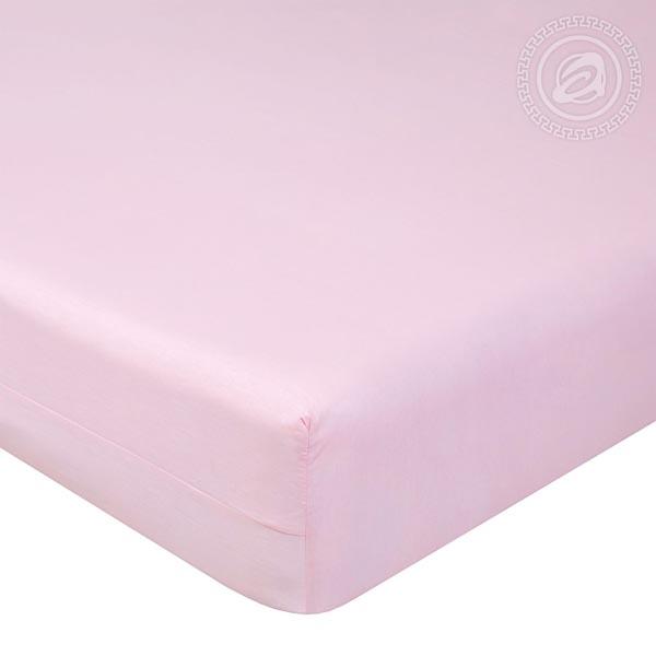 Простыня на резинке Византия (Розовый), поплин