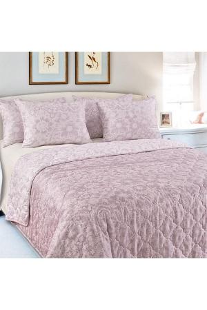 Покрывало стеганое Песочные узоры розовый, сатин