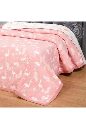Покрывало Фламинго розовый, жаккард