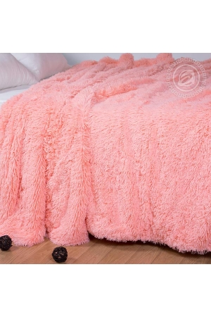 Плед Шиншилла розовая, искусственный мех