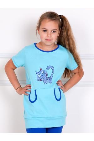 Костюм детский Мяу (голубой)