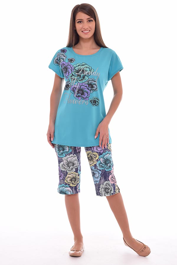 Пижама женская 1-100в (ментол)