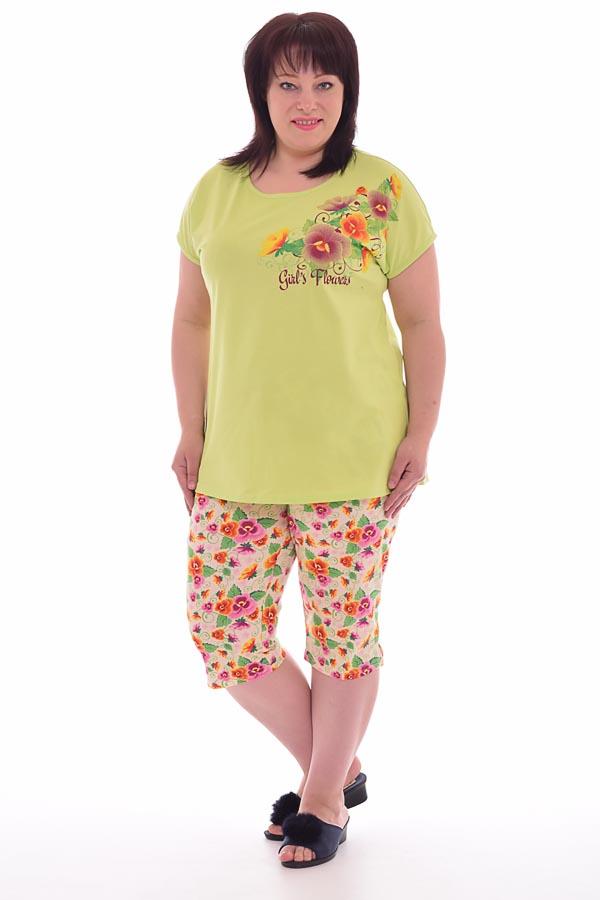 Пижама женская 1-131в (зелёный)
