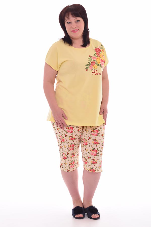 Пижама женская 1-133б (жёлтый)